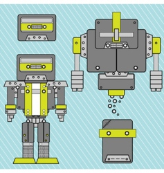 music style robot vector image