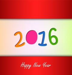 New Year card with color background vector image vector image