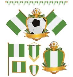nigeria flags vector image vector image