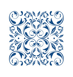 Oriental square ornament with arabesques elements vector