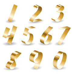 Ribbon number set vector image