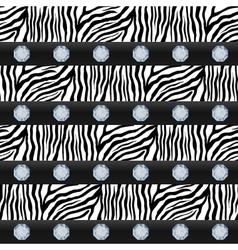 Seamless pattern Striped zebra precious stones vector image vector image