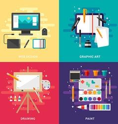 Set of Graphic Art Conceptual Web Design Graphic vector image vector image