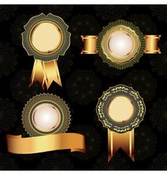 Set of vintage golden design elements vector image vector image