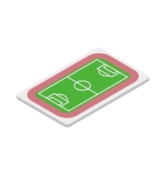 Soccer field icon isometric 3d style vector