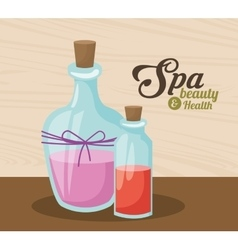 Spa beauty and health organic care products vector