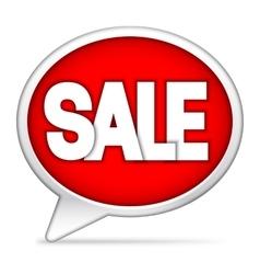Speech bubble sale announcement vector