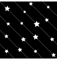 Stars white on line seamless pattern vector image