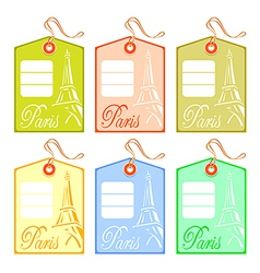 string tag for paris vector image