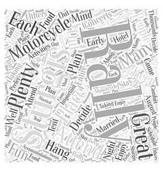 Sturgis motorcycle rally word cloud concept vector