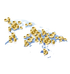 World map and money concept vector image vector image