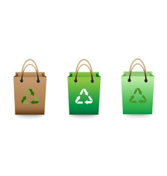 Recyclable bag vector