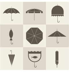 Umbrella icons vector