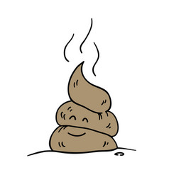 poop icon funny cartoon character vector image