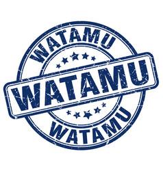 Watamu blue grunge round vintage rubber stamp vector