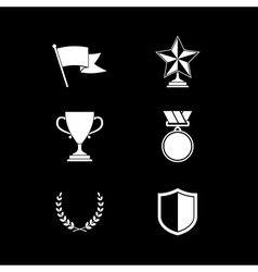 Trophy and prize symbols vector