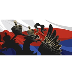 Black russia eagle vector