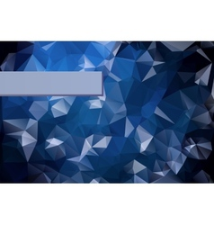 Abstract triangular blue background with polygonal vector