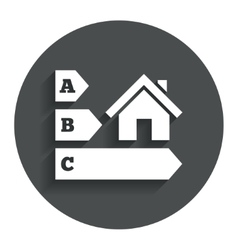 Energy efficiency icon house building symbol vector