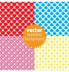 4 seamless backgrounds vector image