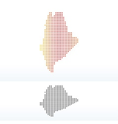 Map of usa maine state with dot pattern vector