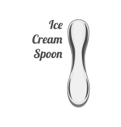 Ice cream spoon vector