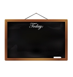 Chalkboard isolated on white background vector