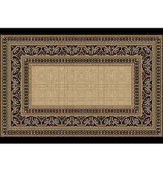 Design carpet with ethnic ornament vector