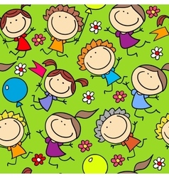 Holidays funny kids vector