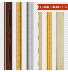 Frame baguette set vector