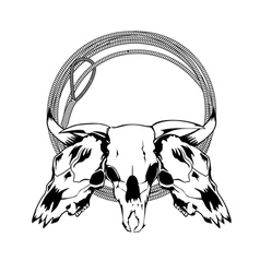 Skull bull and lasso vector