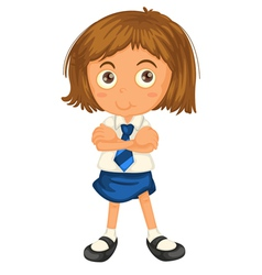 a girl in school uniform vector image