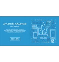 Application development vector image vector image