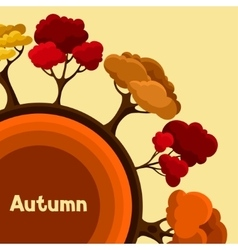 Autumn background design with abstract stylized vector image vector image