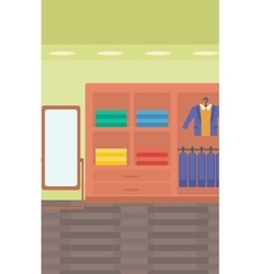 Background of clothes store vector