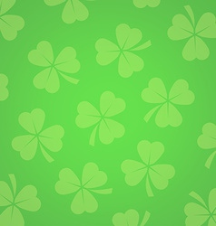 Background with Clover Leafs vector image vector image