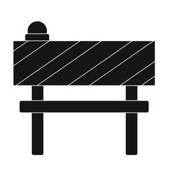 Barrier single icon in black stylebarrier vector