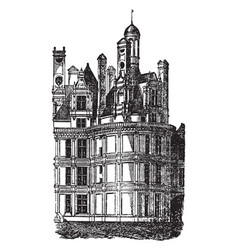 Chateau of chambord one of the most recognizable vector