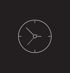 Clock icon time arrow graphics vector