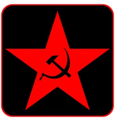 Communist star vector image