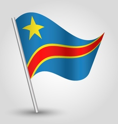 Democratic republic of congo flag on pole vector
