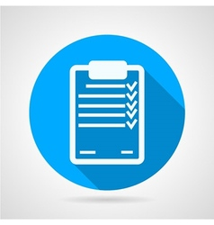 Flat icon for clipboard vector image vector image