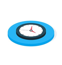 Flat Isometric Business Clock vector image