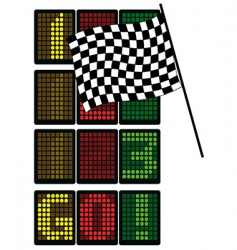 formula 1 table vector image vector image