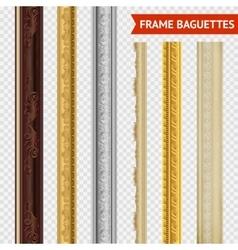 Frame baguette set vector
