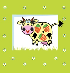 fruity cow vector image vector image