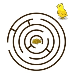Game labyrinth find a way chicken baby vector