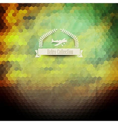 Hipster badge sunset sky clouds retro label design vector