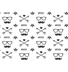 Hipster pattern seamless background with vector