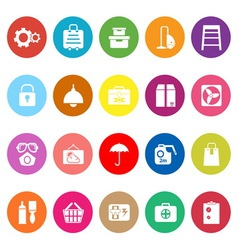 Home storage flat icons on white background vector